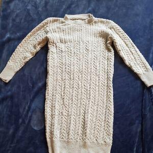 Zulily Oatmeal Sweater Dress XL